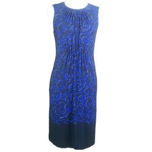 Just Taylor sleeveless dress sz 6 black blue